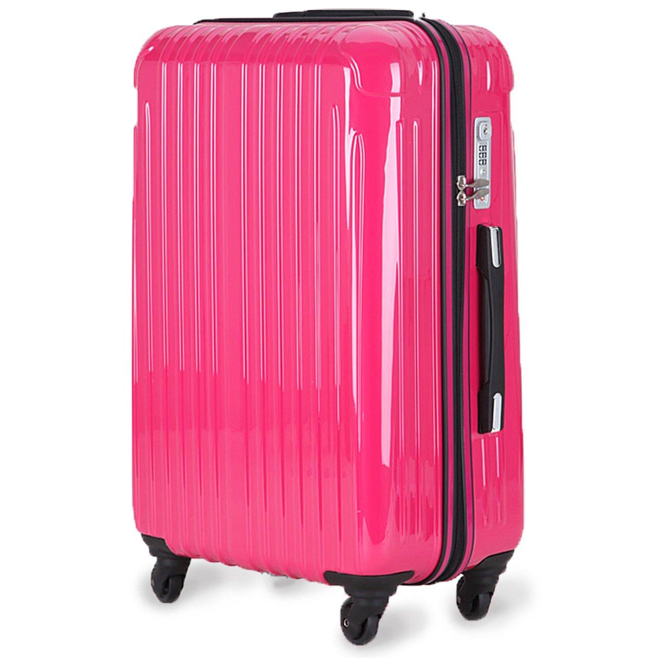 strike[ストライク]超軽量 2年保証 スーツケース TSAロック搭載 旅行バック トランクケース 旅行カバン B075CK9G74 中型アウトレット|マゼンタ マゼンタ 中型アウトレット