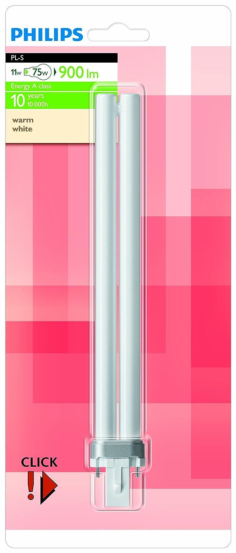 Philips Ampoule Fluocompacte Culot G23 11 Watts consommés Equivalence incandescence : 75W