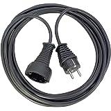 Brennenstuhl Verlengkabel van hoogwaardige kunststof met geaarde stekker, verlengkabel voor binnen met 3 m kabel, zwart