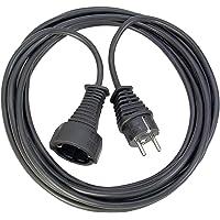 Brennenstuhl Kwaliteit kunststof verlengkabel met stekker (verlengsnoer binnen met 3m kabel) zwart