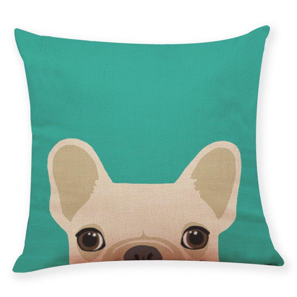 Cotton Blend Pgojuni Cute Dog Head Pillow Cases Soft Sofa Cushion Cover Home Decor for Sofa/Couch 1pc (B)