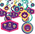 Big Dot of Happiness Happy Diwali - Festival of Lights Party Hanging Decor - Party Decoration Swirls - Set of 40
