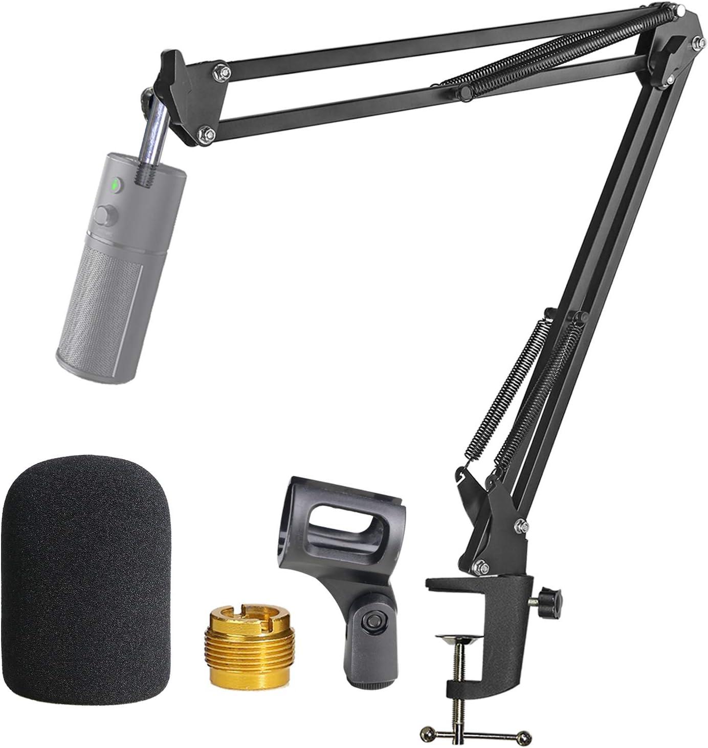 Razer Seiren X Mikrofonständer Mit Popschutz Gelenkarm Mit Windschutz Für Razer Seiren X Streaming Microphone Von Youshares Musikinstrumente