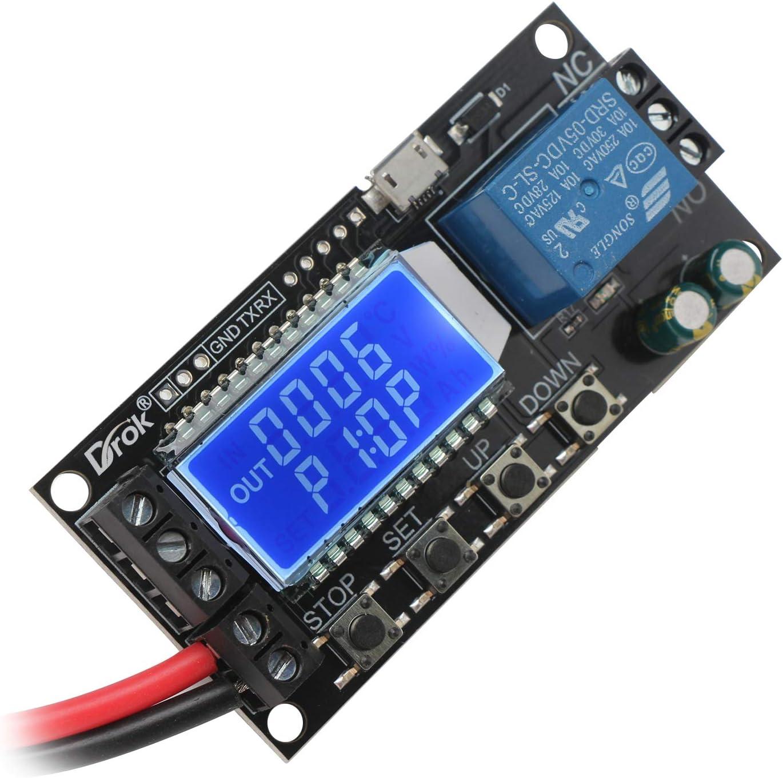 12V Timing Delay Relay Module Digital LED Dual Display 0-999 hours Cycle Tim Rhn