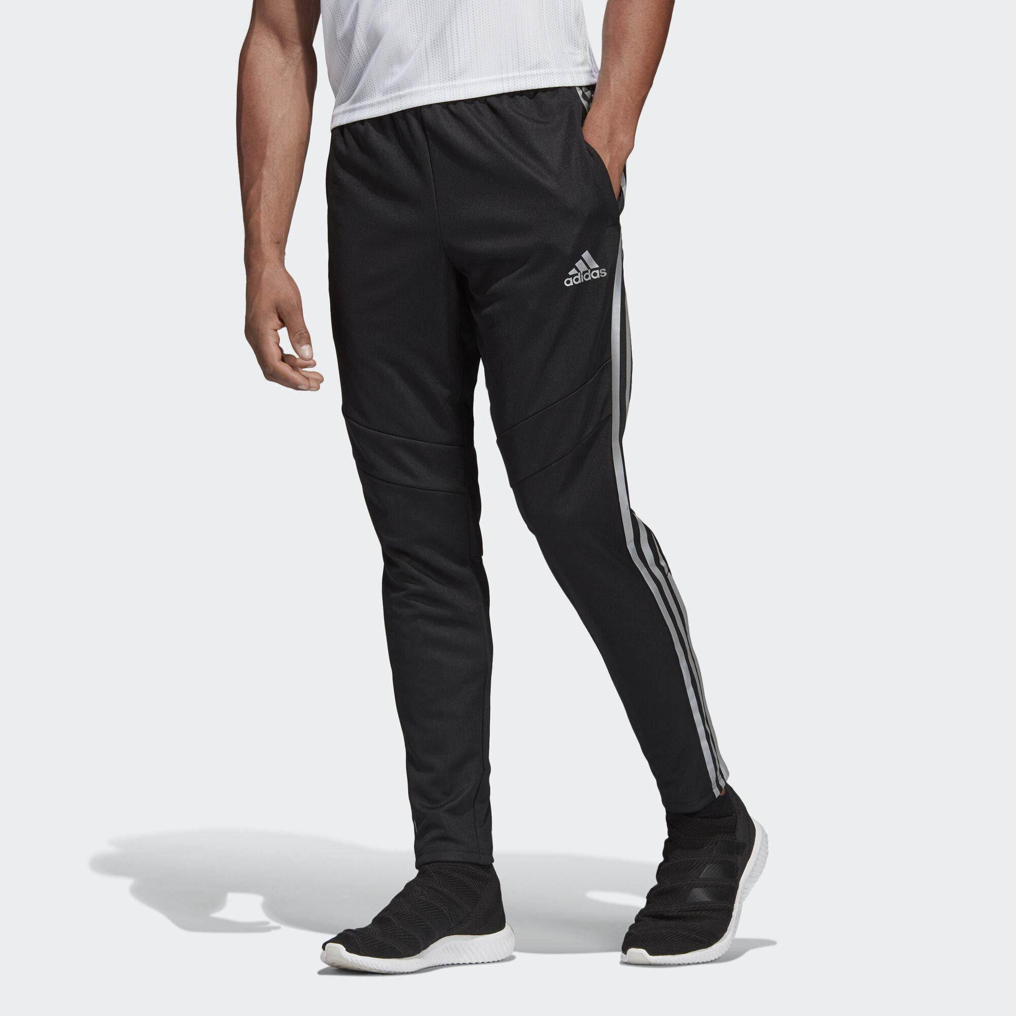 adidas Men's Tiro 19 Training Soccer Pants, Tiro '19 Pants, Black/Reflective Silver, Medium by adidas