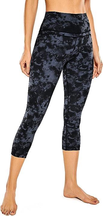 CRZ YOGA Women's High Waist Crop Capri Leggings Workout Pants Naked Feeling - 19 Inches