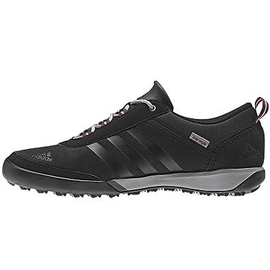 Adidas Daroga Sleek Leather Shoe - Black / Black / Amazon Red 9