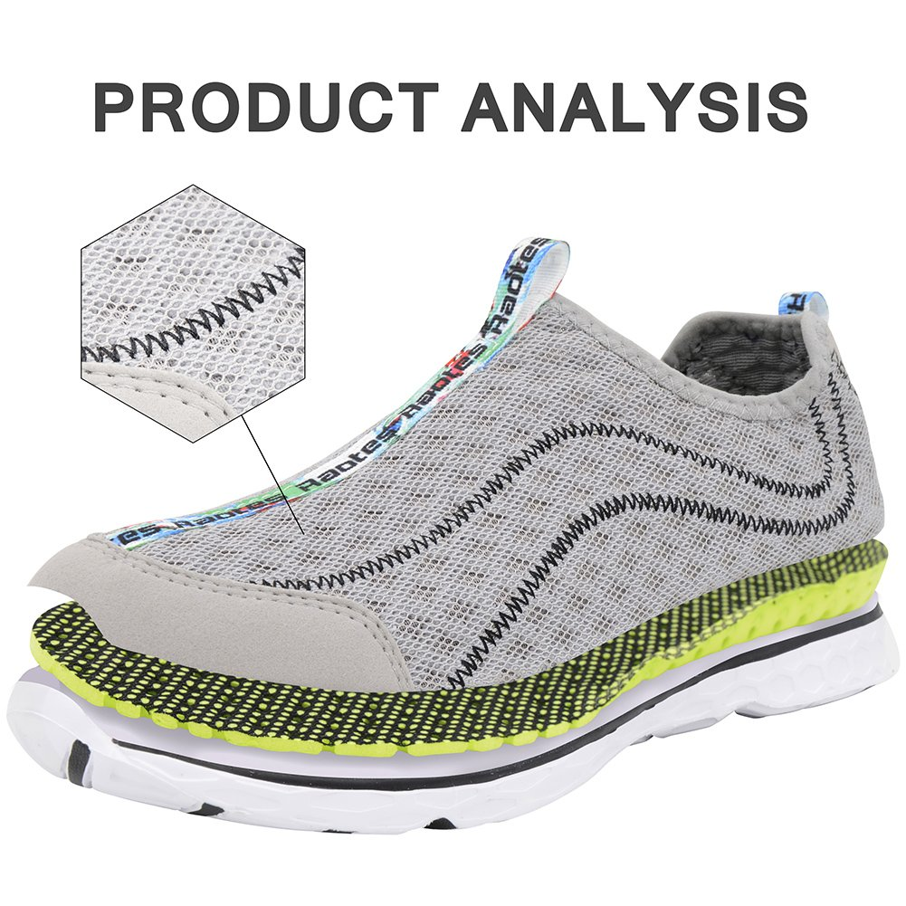 Raotes Quick Drying Aqua Water Shoes - Beach Walking Amphibious Shoes for Men Grey 45 by Raotes (Image #2)