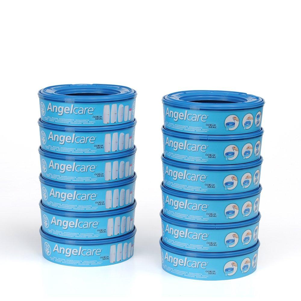 Signstek Pa/ñales para pa/ñales Angelcare Para dep/ósito de pa/ñales Angelcare azul Pack of 4