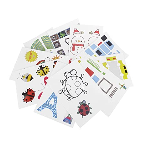 3d impresora papel de dibujo, adv-one diseño papel moldes/3d DIY papel