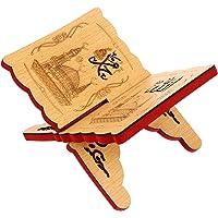 KESYOO Holy Al Quran Book Shelf Wooden Stand Chanting Rack Islam Allah Muhammad Carving Foldable Rehal Bible Magazine…