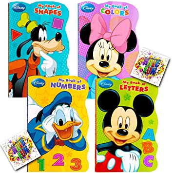 Attractive Disney® Mickey Mouse U0026quot;My First Booksu0026quot; (Set Of 4 Shaped Board