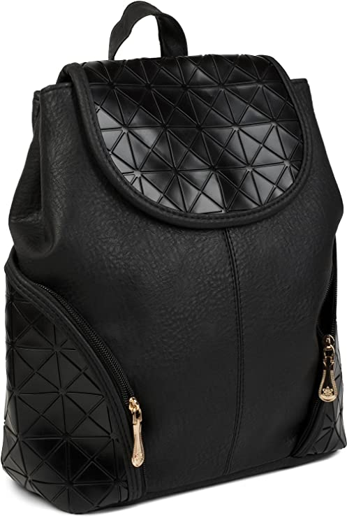 3df77d8c1 styleBREAKER mochila, bolso de mano con diseño geométrico de prisma, bolso,  señora 02012198