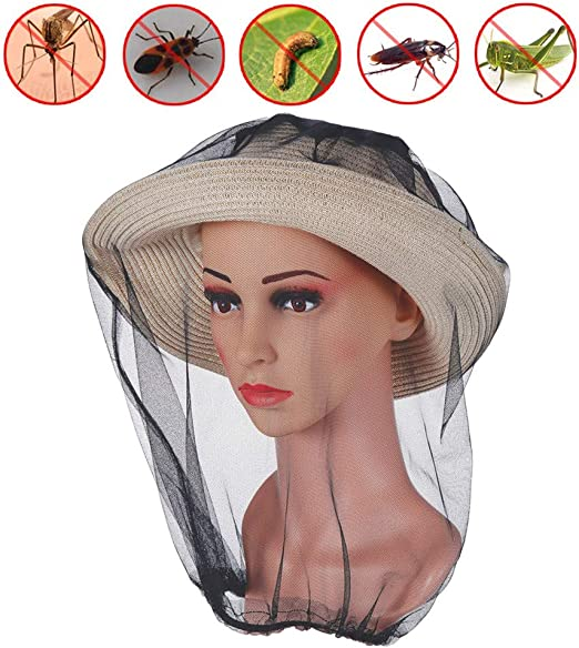 Insect Mosquito Mesh Face Fishing Hunting Outdoor Camping Hat Protector Cap.dr