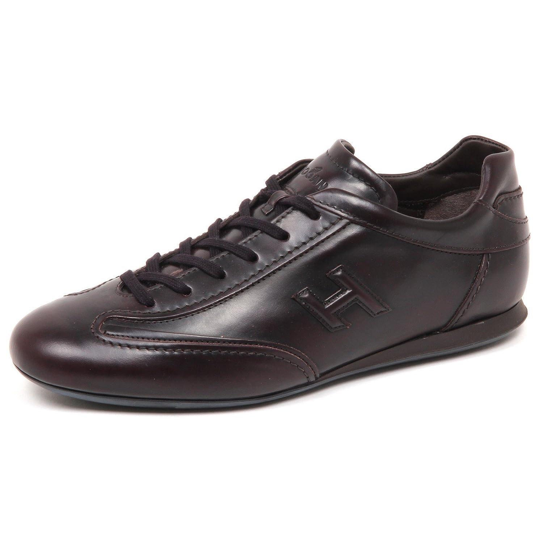 Hogan E5002 Sneaker Uomo Bordeaux Olympia Slash H 3D Scarpe Shoe Man 8.5 bordeaux scuro