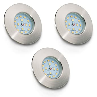 LED Badeinbaustrahler Ultra Flach Inkl. 3 x 5W LED Modul IP44 LED ...