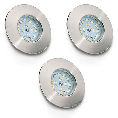 LED Badeinbaustrahler Ultra Flach Inkl. 3 x 5W LED Modul IP44 LED Einbauleuchte Bad Deckenspot Bad Einbaustrahler Einbauspot