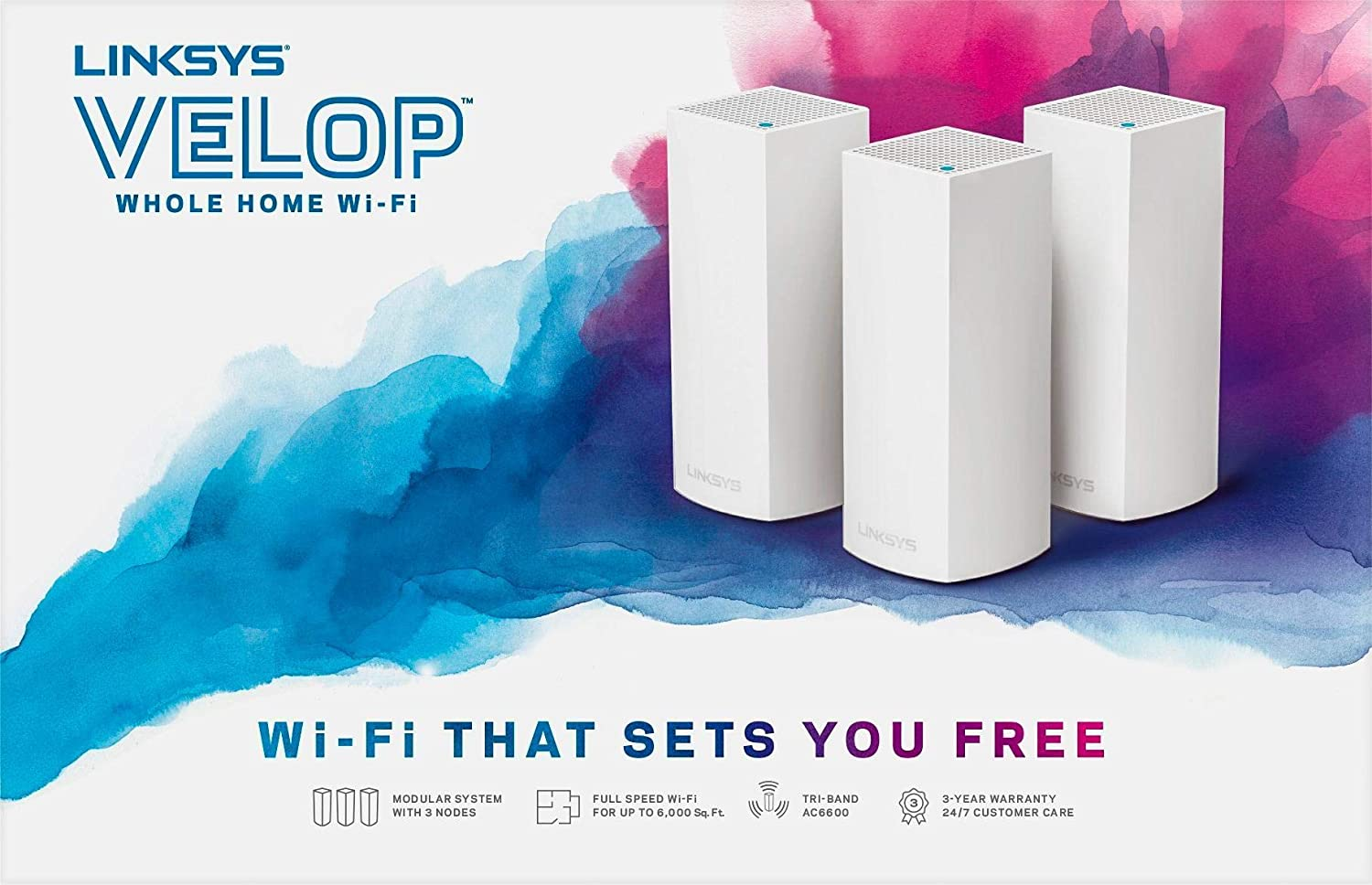 Linksys Velop Tri-Band AC6600 WHW0303-ME Pack-3