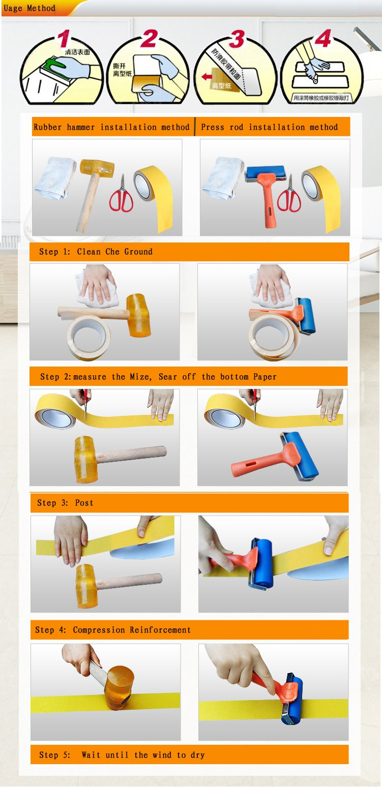 Yellow Reflective Reflective Anti Slip Safety Grit Non Slip Tape Highest Traction 1.97 Inch x 16.4 Foot,Anti-Slip Tape, Floor tape,stairs Tape,Safety Tape