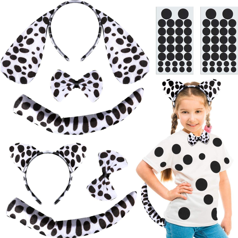 Dalmatian Kit Ears Tail Dog Animal Fancy Dress Up Halloween Costume Accessory