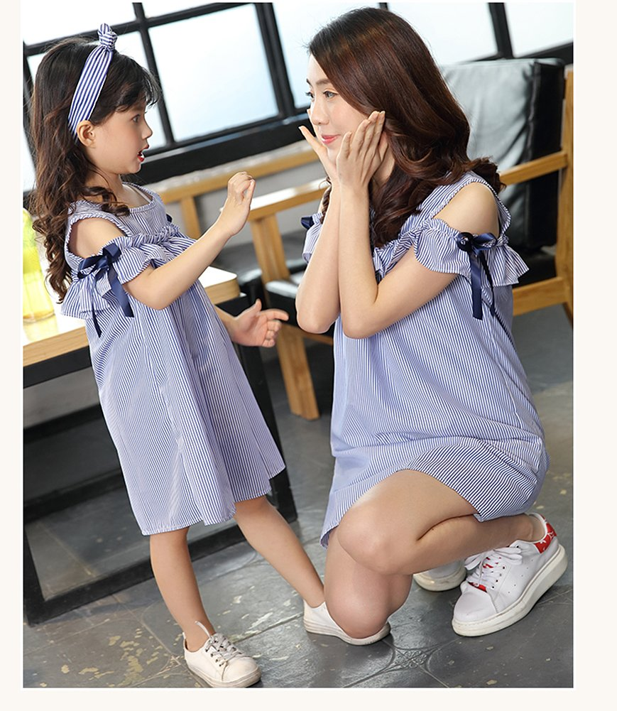Robasiom Little Girls Dress Cotton Casual Short Sleeve Skirt for Summer Parenting Family Dress by Eden Babe (Image #7)