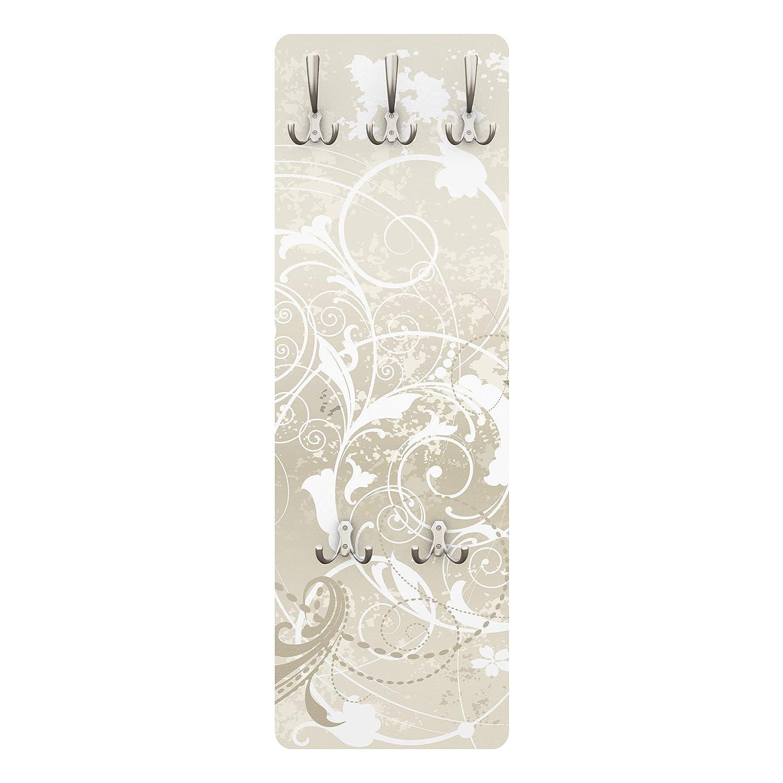 appendiabiti per cappotti motivo dal design ornamentale 139 x 46 x 2 cm fissaggio a parete Appendiabiti da parete
