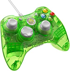PDP - Mando Con Cable Rock Candy, Licenciado, Color Verde (Xbox 360): Amazon.es: Videojuegos