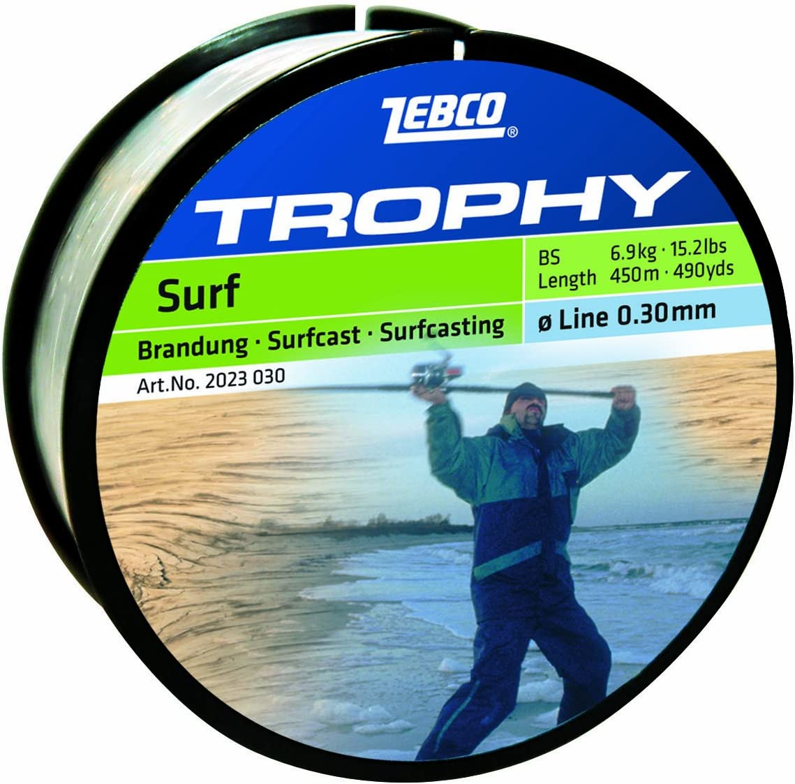 6,9 kg Zebco Trophy Surfcast /Ø 0,30 mm 450 m