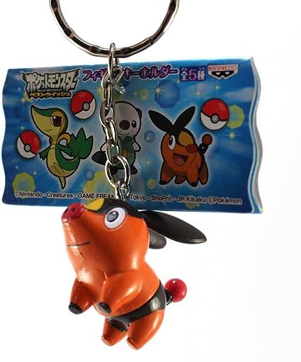 Pokabu//Tepig Pokemon Best Wishes Figure Keychain Banpresto 2011-1.5