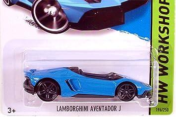 2014 Hot Wheels Hw Workshop Lamborghini Aventador J   Blue