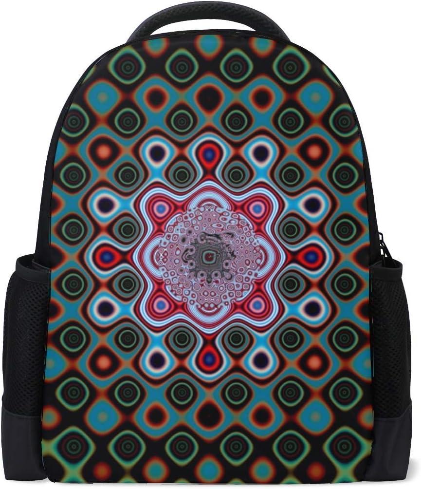 Circles Patterns Shapes Bookbag School Backpack Luggage Travel Sport Bag