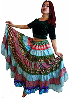 442b5495d49 Dancers World Ltd (UK Seller) 7 Yard Tribal Gypsy Maxi Tiered Skirt Belly  Dancing