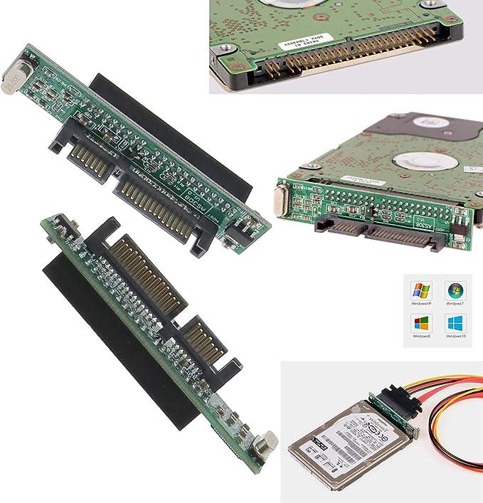 2 x 44 pines 2,5 pulgadas IDE HDD SSD portátil disco duro hembra a ...