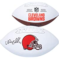 $169 » Nick Chubb Cleveland Browns Autographed Wilson White Panel Football - Autographed Footballs