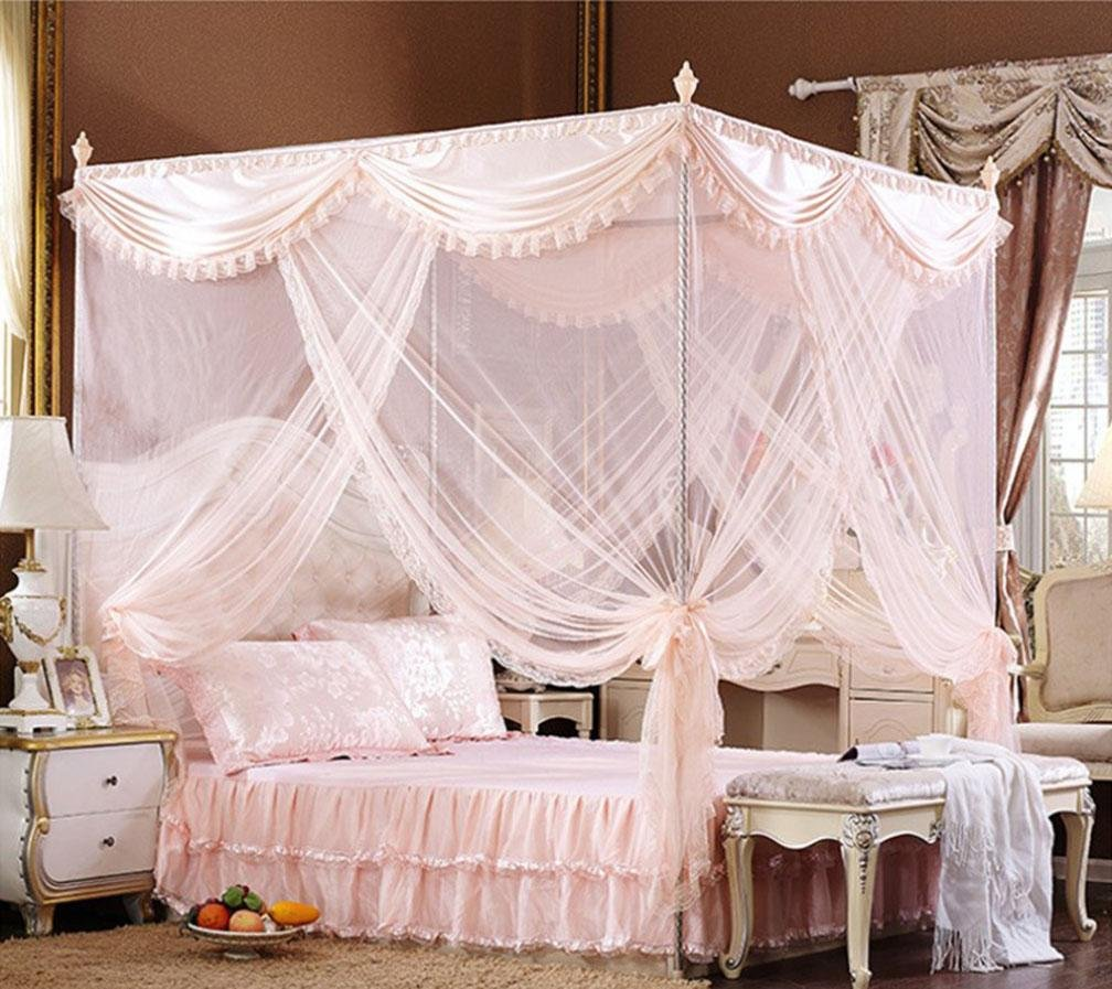 4 180220 4 180220 YL European Palace Three Open Door Mosquito Nets Fine Lace Edge Quality Stainless Steel Tube Stent Palace Court Mosquito Nets , 4 , 180220,4,180220