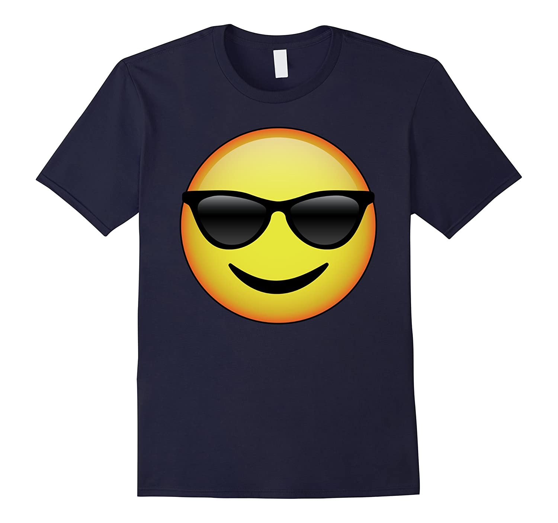 HD Emoji Sunglasses Face Shirt - Emoticon Tee - Cool Emotag-T-Shirt