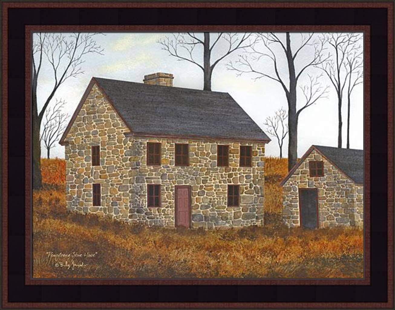 Old Clay Crocks Fence House Farm Canvas Small Billy Jacobs