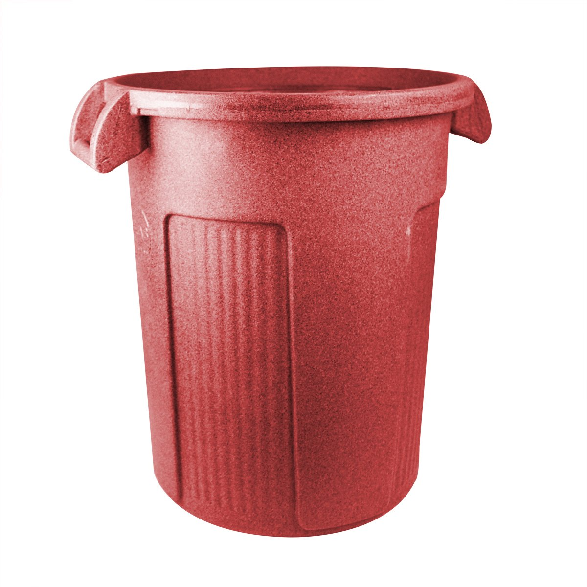 UltraSource Commercial Atlas Waste Container, 32 gal, Red