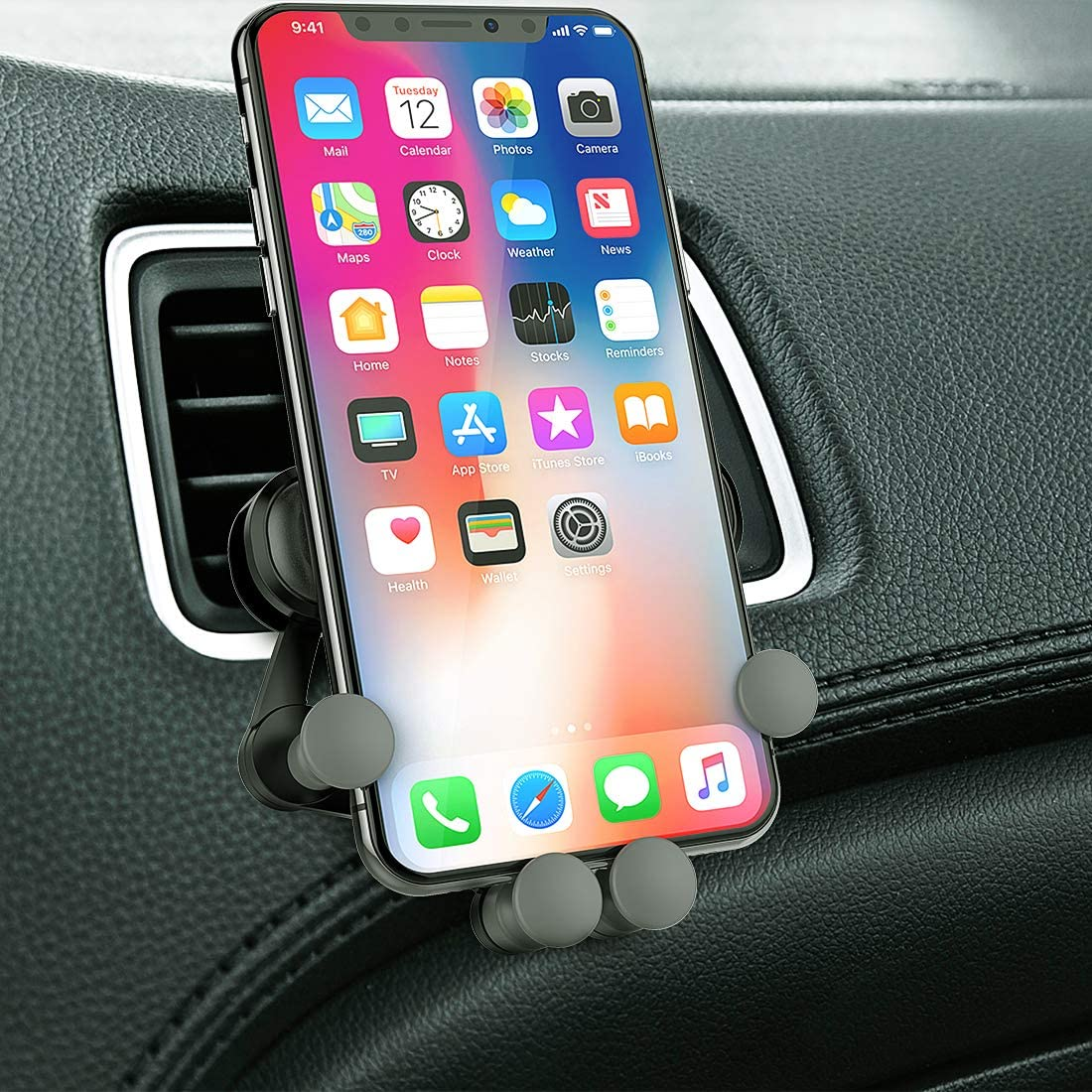 Galaxy s5//s6//s7//s8//s9 Smart Phone Car Phone Mount Air Vent Car Phone Holder Automatic Locking for Car Dashboard//Windshield//Air Vent Universal Phone Car Mount Compatible with iPhone x//8//7//7p//6s//6p//5s