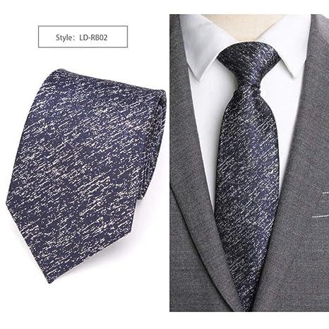 KYDCB Corbata de Hombre sólido de 8 cm de Estilo de Negocios de ...