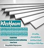 A4 (210mm x 297mm) White Foam Board Mount Board 3mm Thick Foam Sheet Sign Display Model Backdrop Craft (5 Sheet)