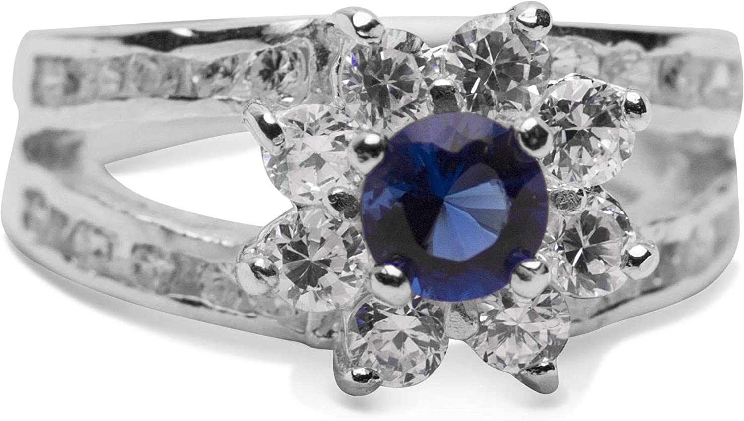 JewelryOnClick Blue Sapphire Pendant Charm 7 Carat Natural Oval Gemstone 92.5 Sterling Silver