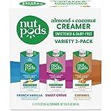 nutpods Zero-Sugar Sweetened Coffee Creamer, Variety 3 Pack, Dairy-Free, 5 Calories per serving, Keto, WW, Gluten Free, Non-G
