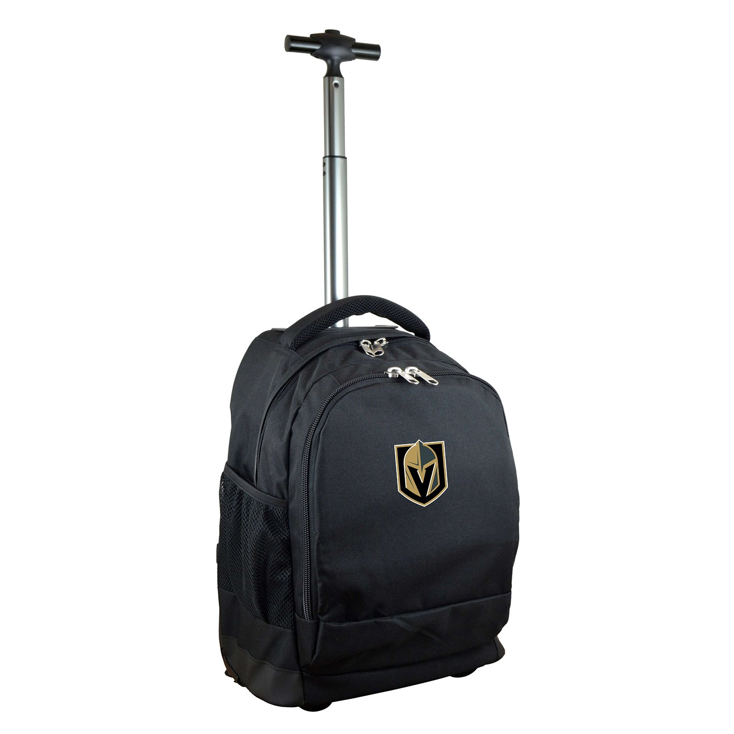 Denco NHL Vegas Golden Knights Expedition Wheeled Backpack, 19-inches, Black