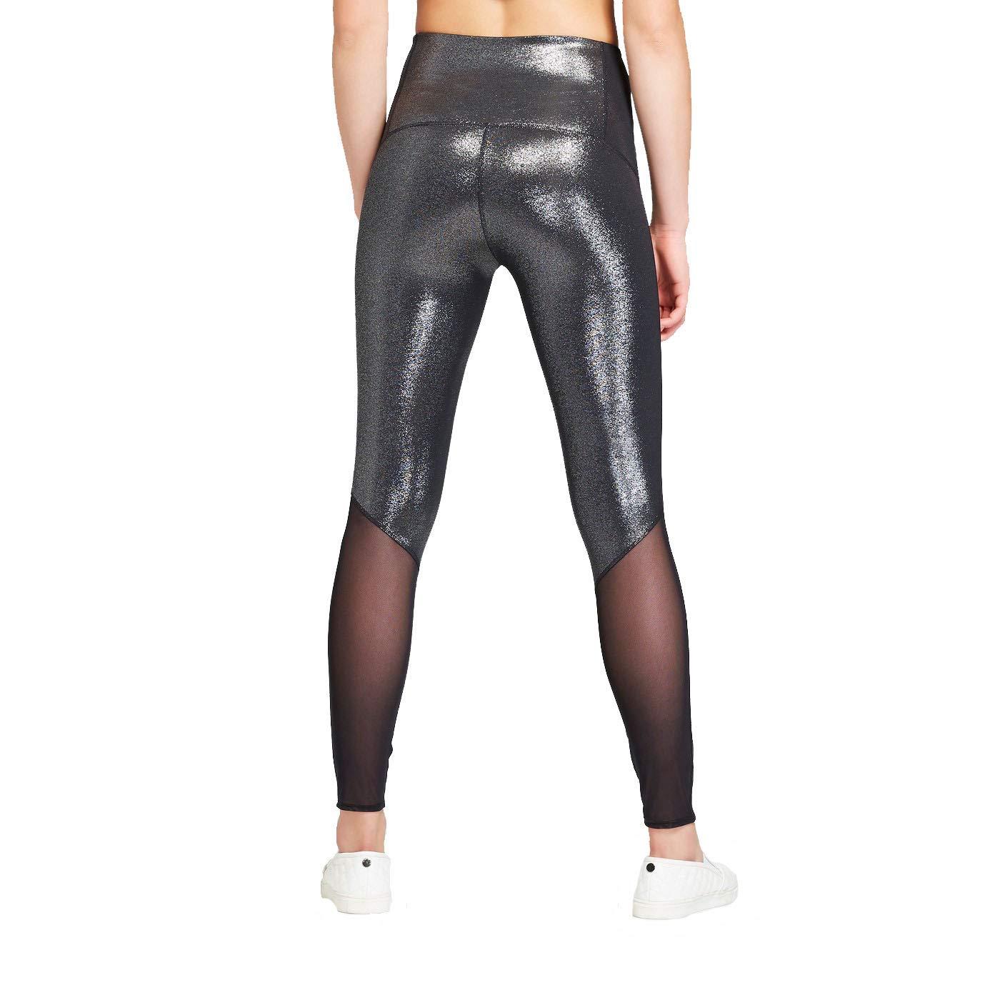 186cf7640e870b JoyLab Women's High-Waisted 7/8 Shine Leggings Black at Amazon Women's  Clothing store: