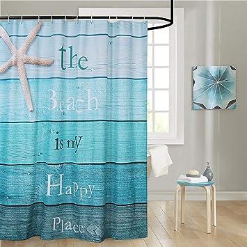 "Polyester Waterproof Black White Stripes Bathroom Shower Curtain 12Hooks 72x72/"""