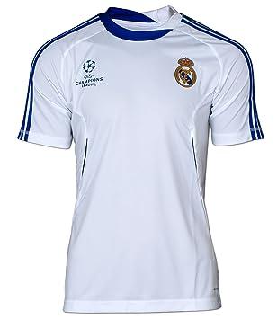 adidas Real Madrid UEFA Champions League Camiseta Jersey Camiseta, Real UCL Jersey, Blanco-Azul: Amazon.es: Deportes y aire libre