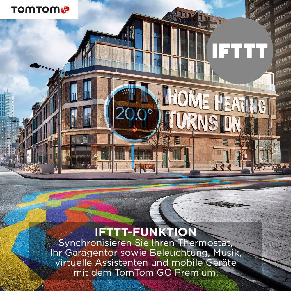 5 Zoll mit Updates /über Wi-Fi, Lebenslang Traffic via SIM-Karte, Weltkarten, Navigation letzter Kilometer und IFTTT TomTom GO Premium Pkw-Navi