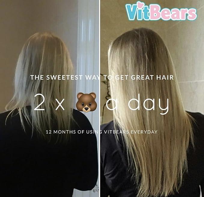 VITBEARS - VITAMINAS para el pelo, la piel y la nariz, 60 unidades (1 mes)