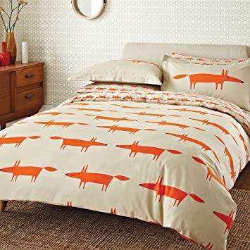 Scion Bettwäsche Set Mr Fox Doppelbett Naturfarben Amazonde